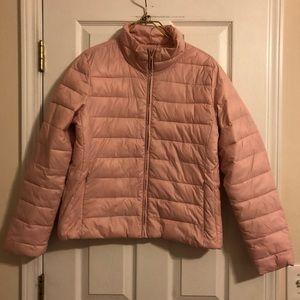 LOFT Pink Puffer Jacket